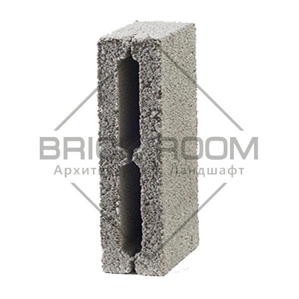 Керамзитобетонный блок перегородочный 2-х пустотный 390Х190Х120
