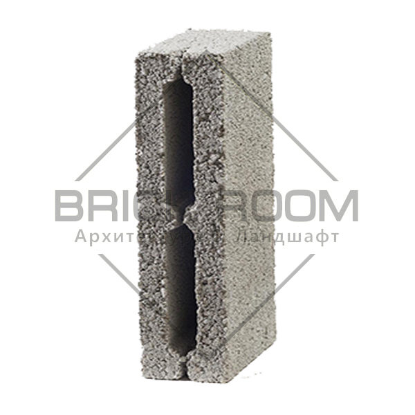 Керамзитовый блок перегородочный 2-х пустотный 390Х190Х120