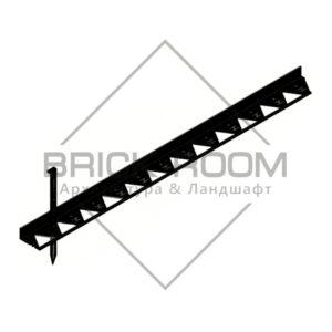 Бордюр пластиковый черный L1500 (Германия) Hauraton